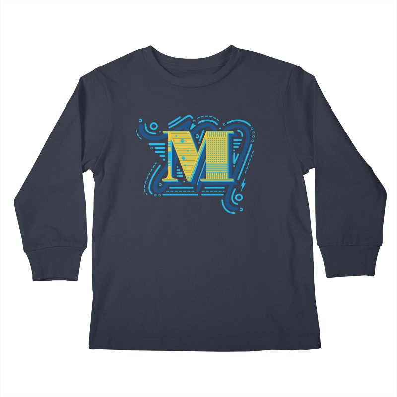 M Kids Longsleeve T-Shirt by mhacksi's Artist Shop