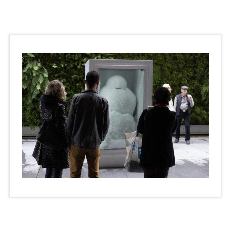 Three, with Fischli/Weiss Snowman Home Fine Art Print by mhershenow's Artist Shop