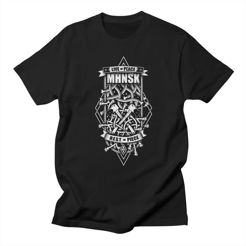 LIVE IN PEACE, REST IN PIECE! Men's T-shirt by MHNSK's Artist Shop