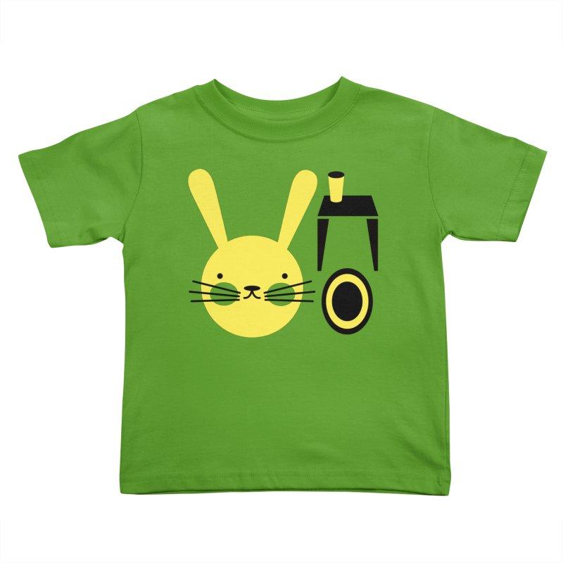 Lapin Deco Kids Toddler T-Shirt by Mia Hansen's Artist Shop