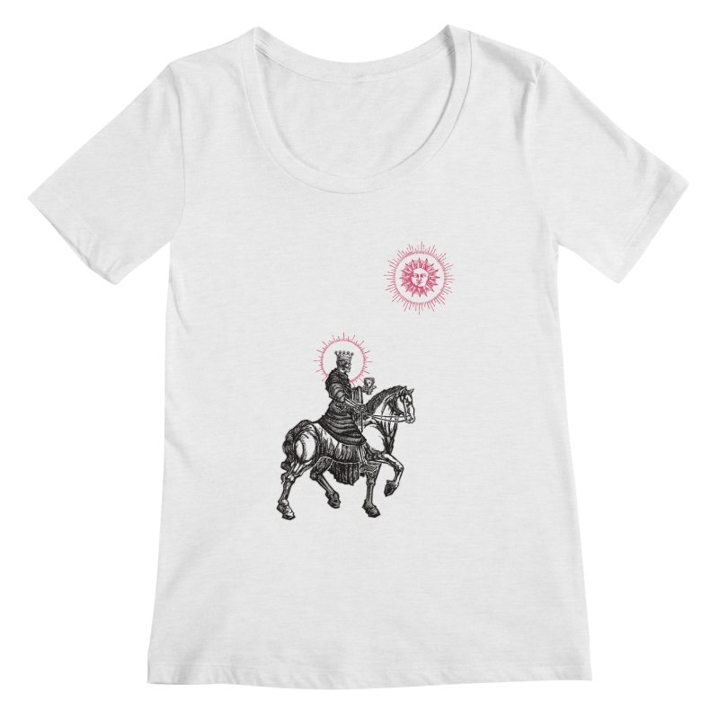 Knight of Cups Women's Regular Scoop Neck by Apparel by Micah Ulrich