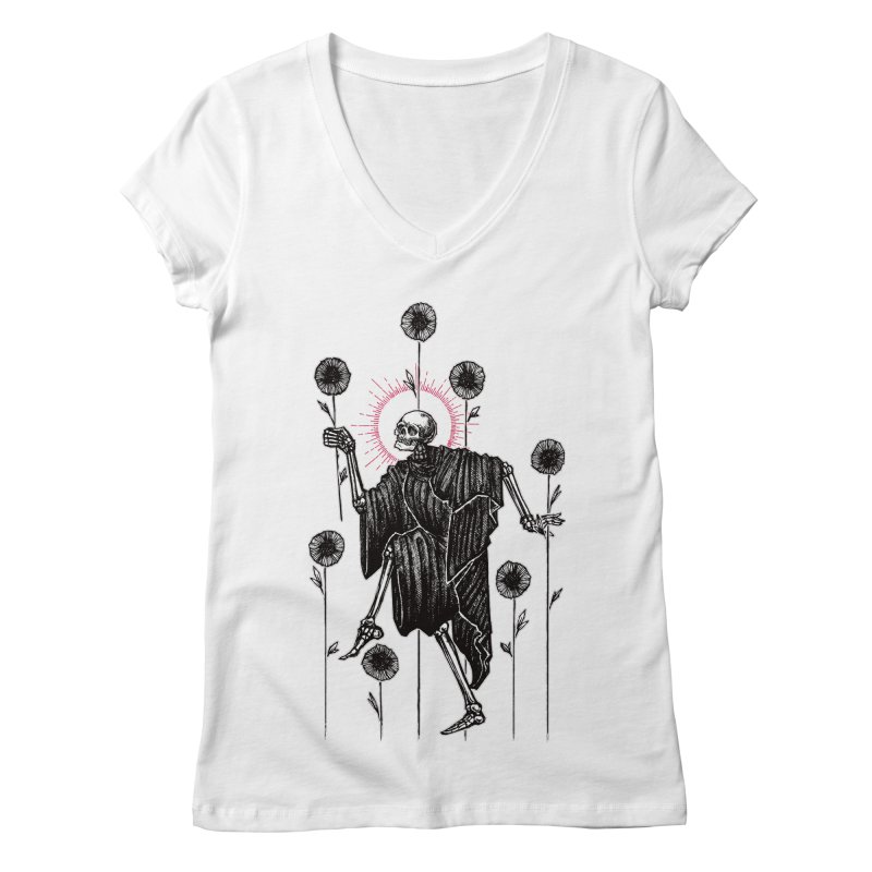 The Seven of Wands Women's Regular V-Neck by Apparel by Micah Ulrich