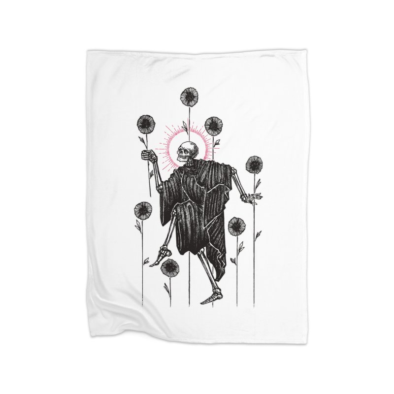 The Seven of Wands Home Fleece Blanket Blanket by Apparel by Micah Ulrich