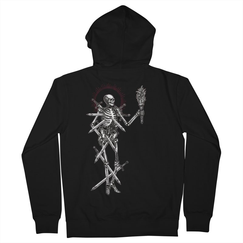 Seven of Swords Women's French Terry Zip-Up Hoody by Apparel by Micah Ulrich