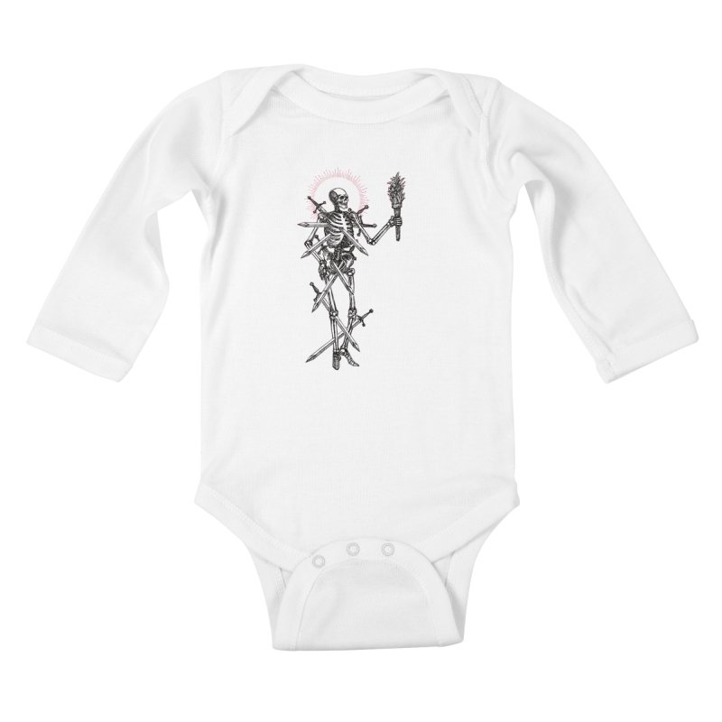 Seven of Swords Kids Baby Longsleeve Bodysuit by Apparel by Micah Ulrich