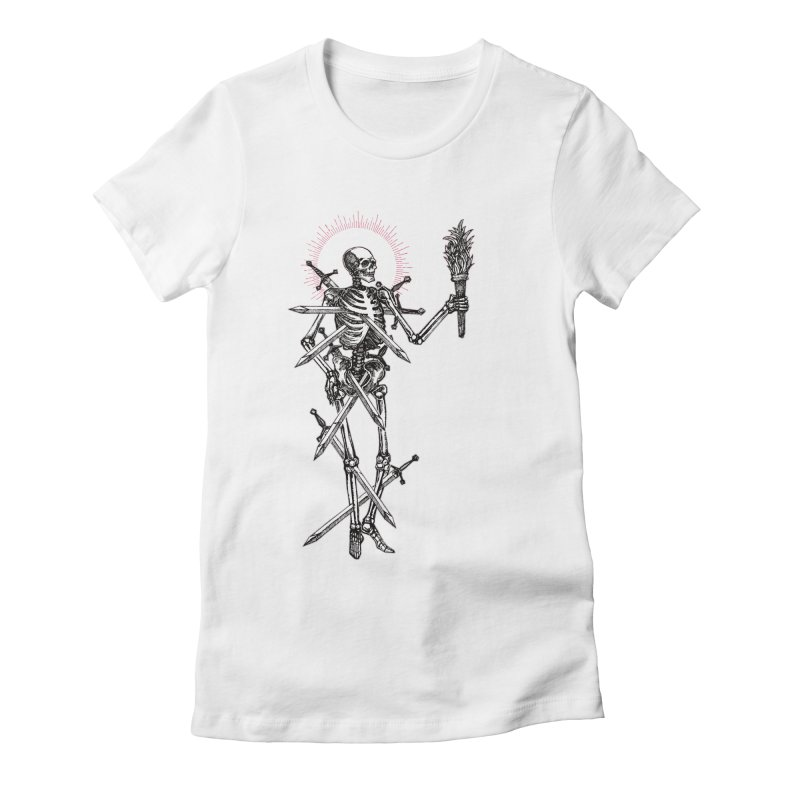 Seven of Swords Women's Fitted T-Shirt by Apparel by Micah Ulrich
