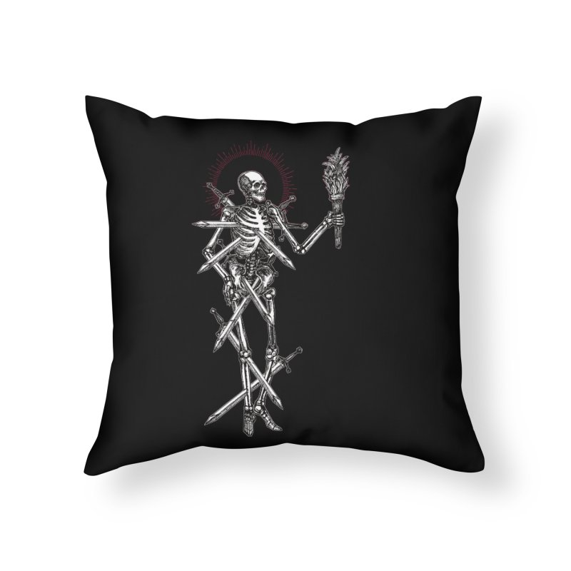 Seven of Swords Home Throw Pillow by Apparel by Micah Ulrich