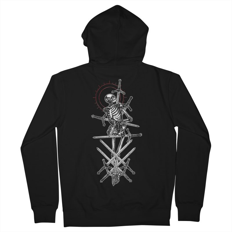 Eight of Swords Women's French Terry Zip-Up Hoody by Apparel by Micah Ulrich