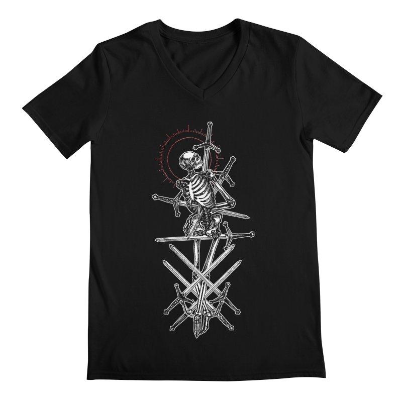 Eight of Swords Men's Regular V-Neck by Apparel by Micah Ulrich