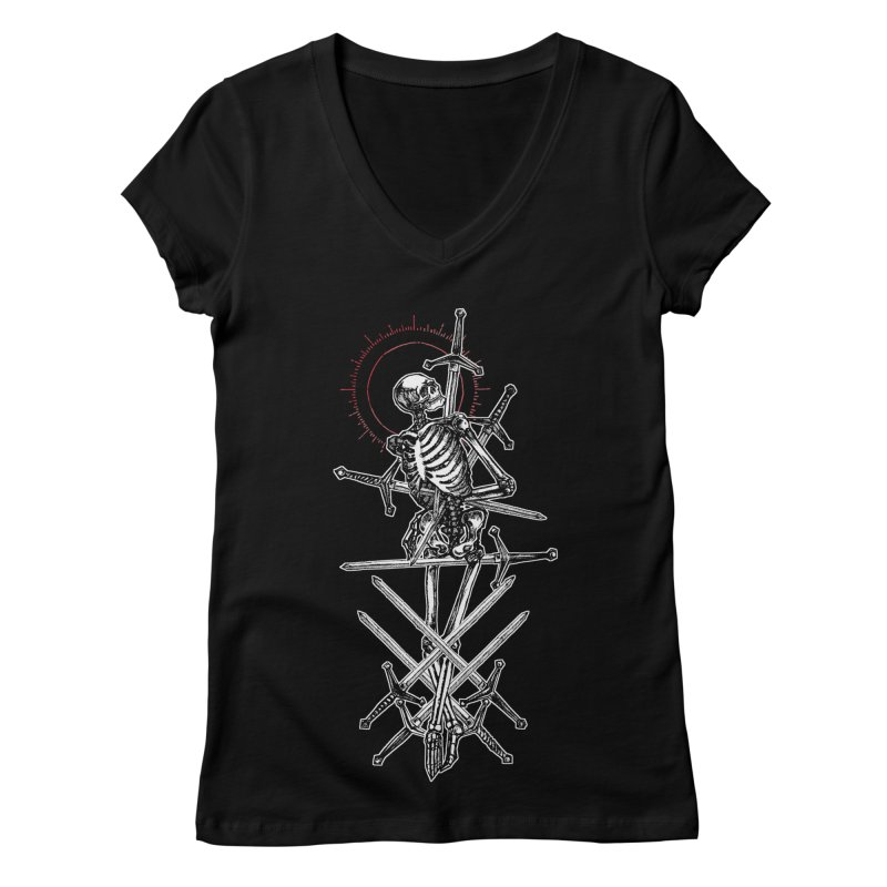 Eight of Swords Women's Regular V-Neck by Apparel by Micah Ulrich