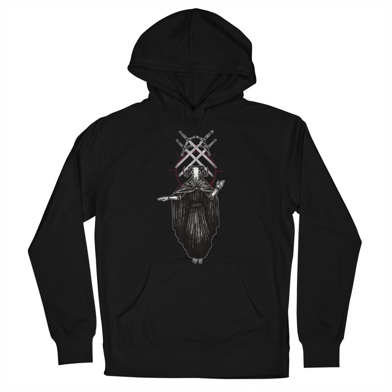 Four of Swords! Women's French Terry Pullover Hoody by Apparel by Micah Ulrich