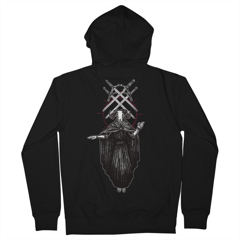 Four of Swords! Women's French Terry Zip-Up Hoody by Apparel by Micah Ulrich