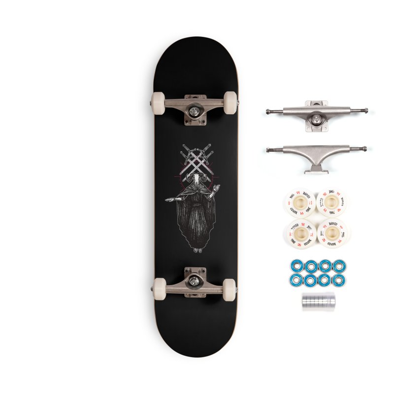 Four of Swords! Accessories Complete - Premium Skateboard by Apparel by Micah Ulrich