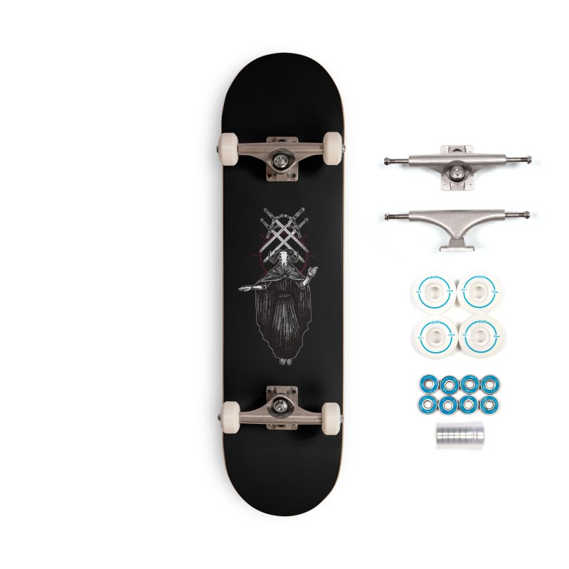 Four of Swords! Accessories Complete - Basic Skateboard by Apparel by Micah Ulrich