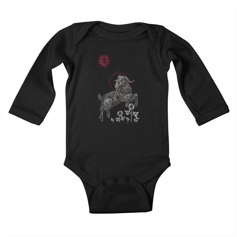 The Black Goat Kids Baby Longsleeve Bodysuit by Apparel by Micah Ulrich