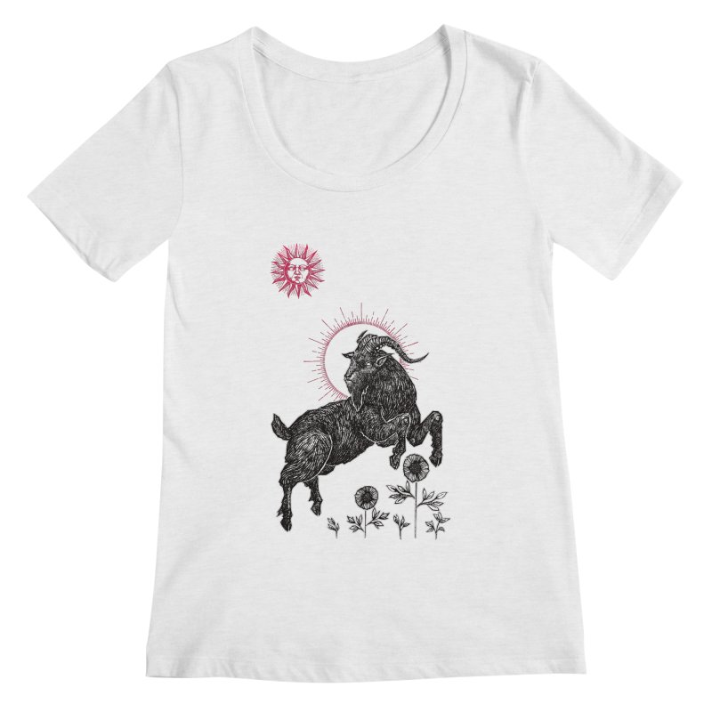 The Black Goat Women's Regular Scoop Neck by Apparel by Micah Ulrich