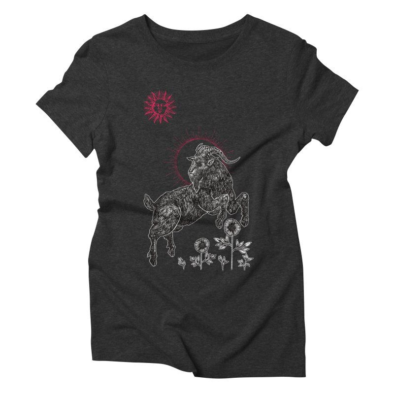 The Black Goat Women's Triblend T-Shirt by Apparel by Micah Ulrich