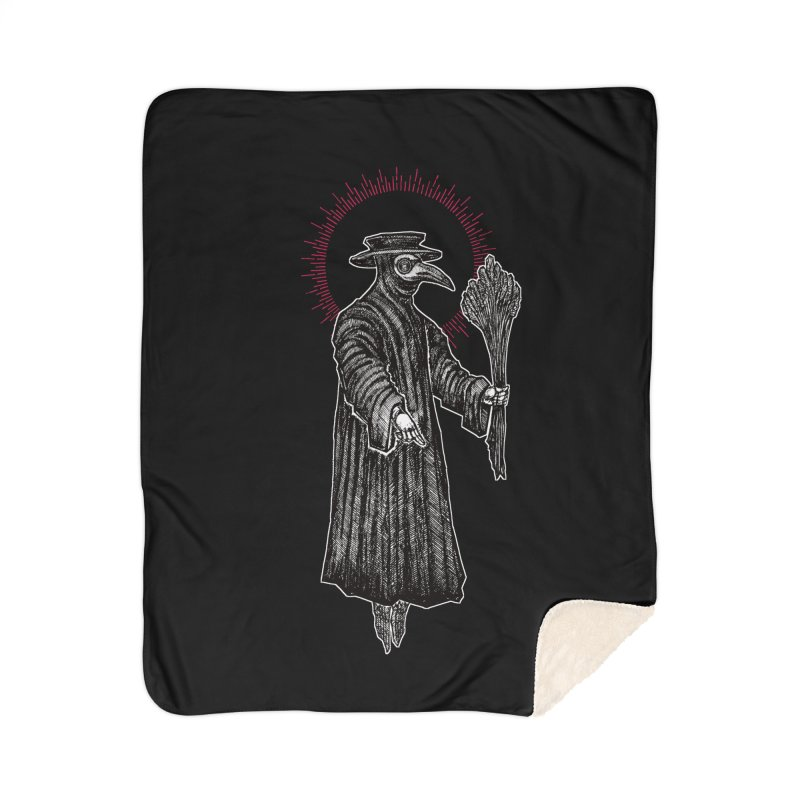 The Healer Home Sherpa Blanket Blanket by Apparel by Micah Ulrich