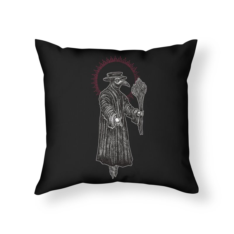 The Healer Home Throw Pillow by Apparel by Micah Ulrich