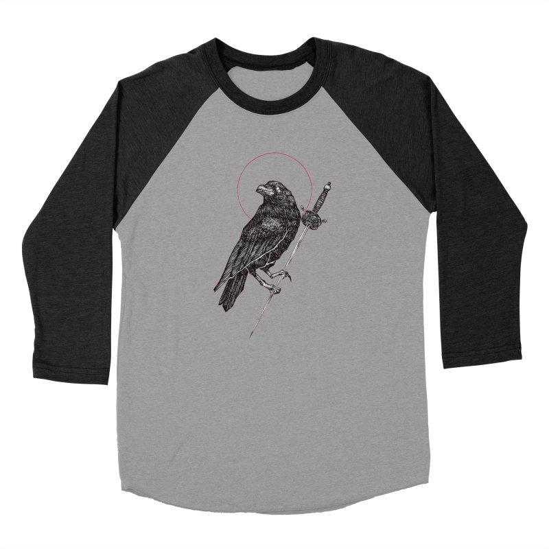 The Raven Women's Baseball Triblend Longsleeve T-Shirt by Apparel by Micah Ulrich