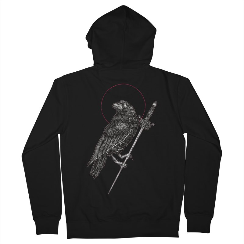 The Raven Women's French Terry Zip-Up Hoody by Apparel by Micah Ulrich