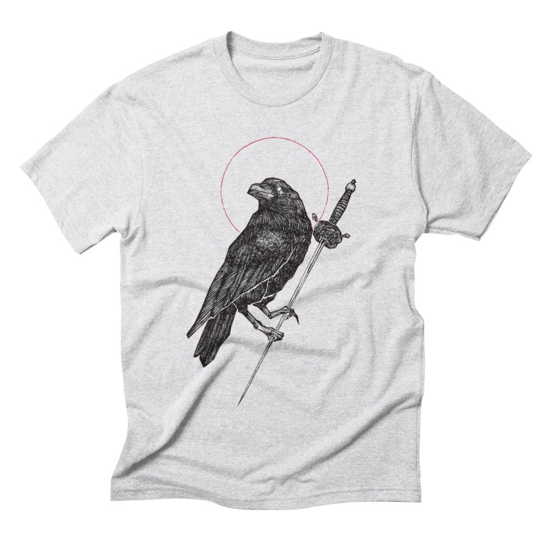 The Raven Men's Triblend T-Shirt by Apparel by Micah Ulrich