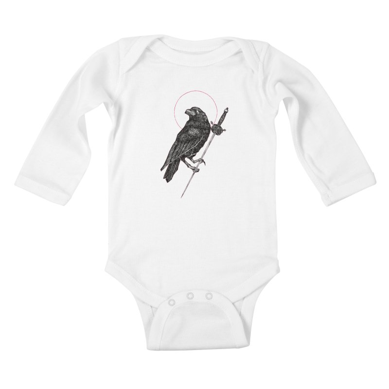 The Raven Kids Baby Longsleeve Bodysuit by Apparel by Micah Ulrich