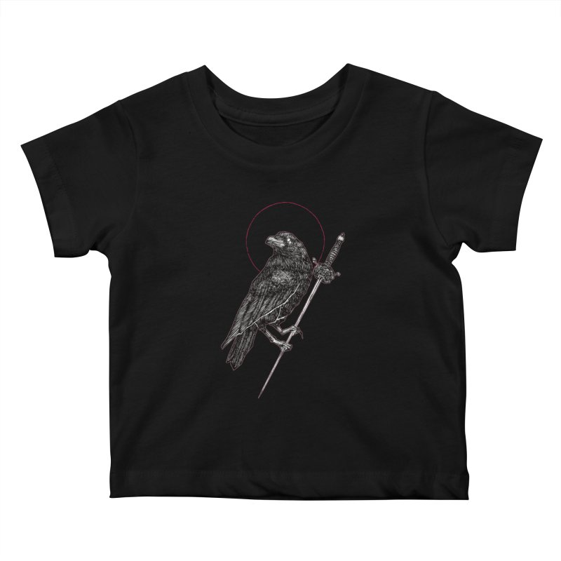 The Raven Kids Baby T-Shirt by Apparel by Micah Ulrich
