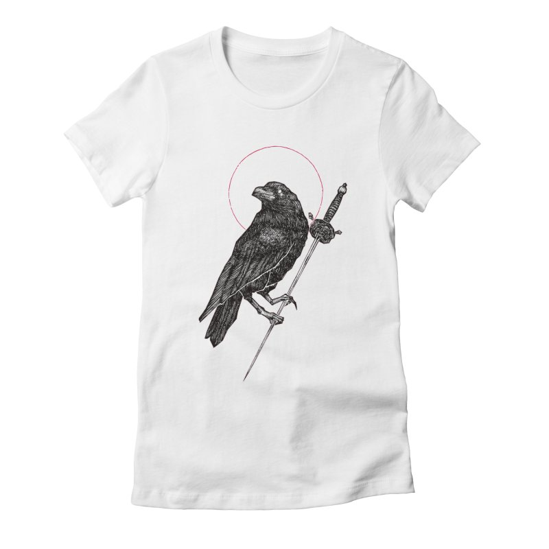 The Raven Women's Fitted T-Shirt by Apparel by Micah Ulrich