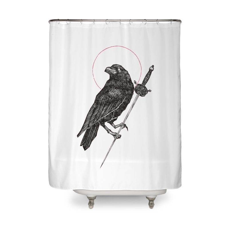 The Raven Home Shower Curtain by Apparel by Micah Ulrich