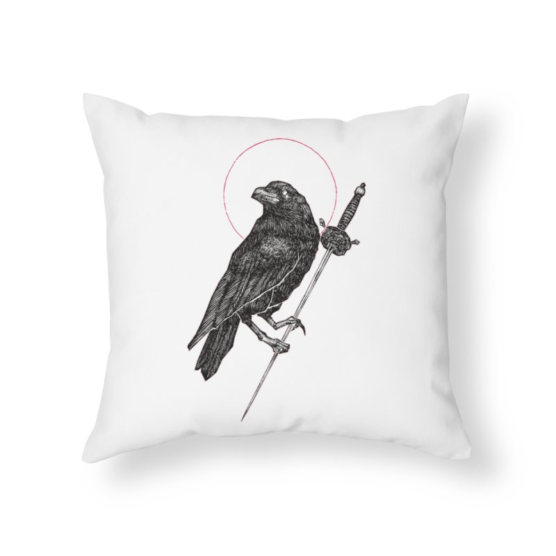 The Raven Home Throw Pillow by Apparel by Micah Ulrich