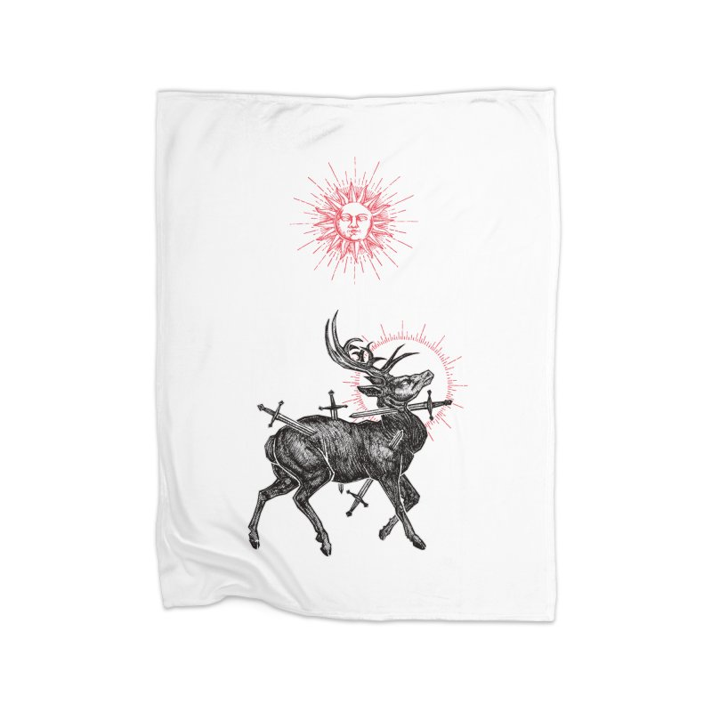 Sacrifice Home Fleece Blanket Blanket by Apparel by Micah Ulrich
