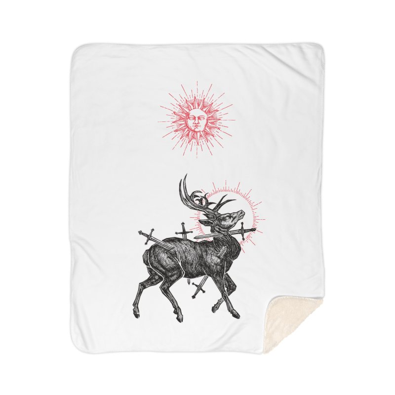 Sacrifice Home Sherpa Blanket Blanket by Apparel by Micah Ulrich