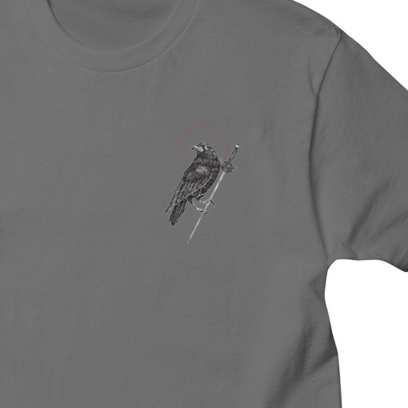 The Knight's Raven Men's T-Shirt by Micah Ulrich Artwork & Apparel