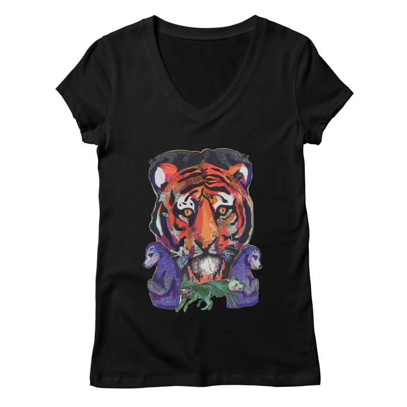 Tribe Women's V-Neck by Mica Still / Collection of Giggles