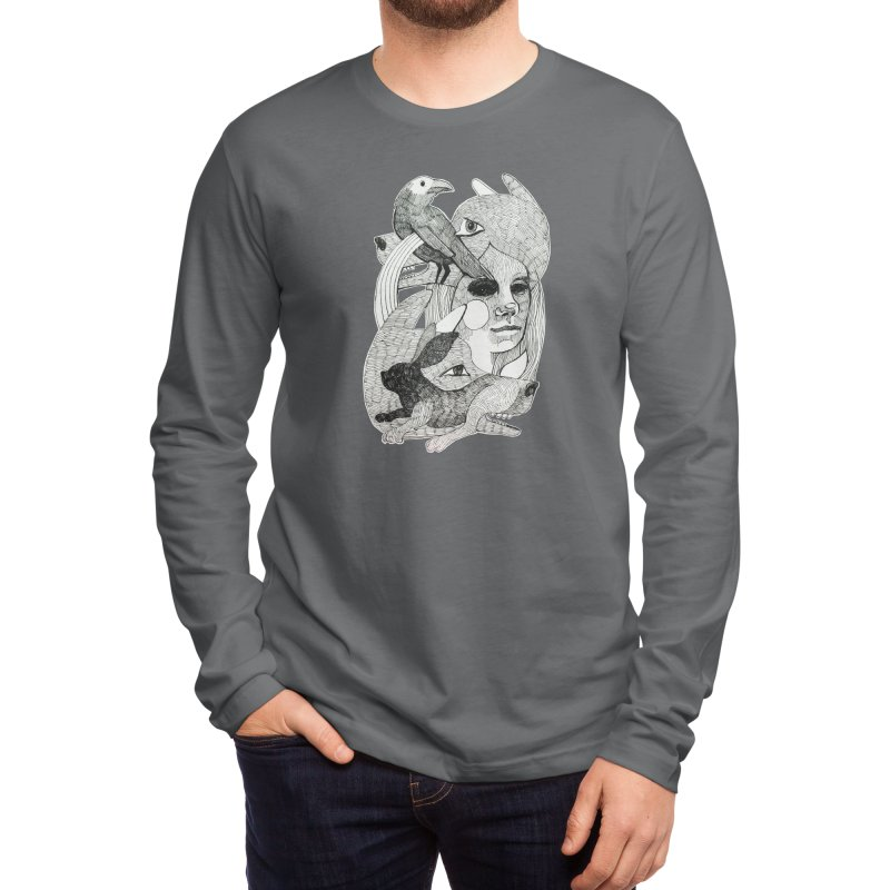 Hiding in Plain Sight Men's Longsleeve T-Shirt by Mica Still / Collection of Giggles