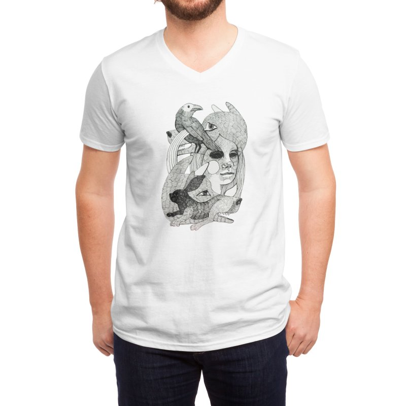 Hiding in Plain Sight Men's V-Neck by Mica Still / Collection of Giggles