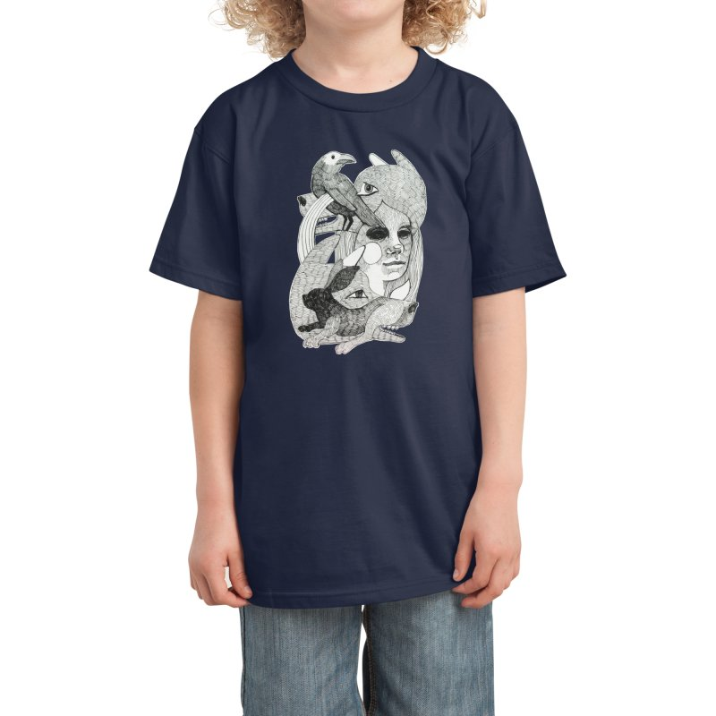 Hiding in Plain Sight Kids T-Shirt by Mica Still / Collection of Giggles