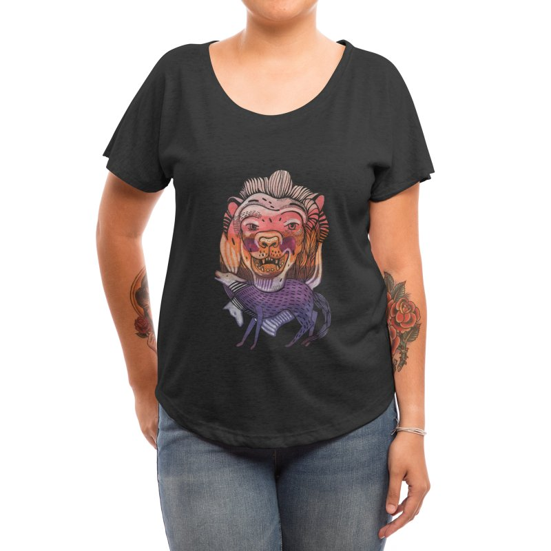 Protect Women's Scoop Neck by Mica Still / Collection of Giggles