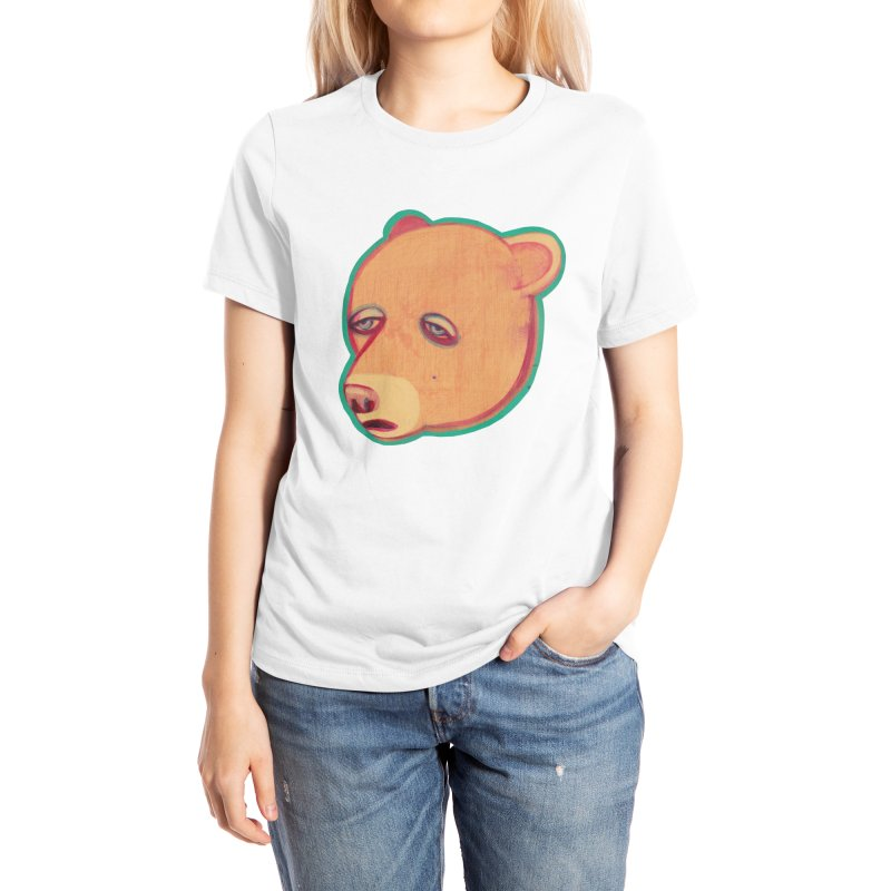 Mr Sad Bear Women's T-Shirt by Mica Still / Collection of Giggles