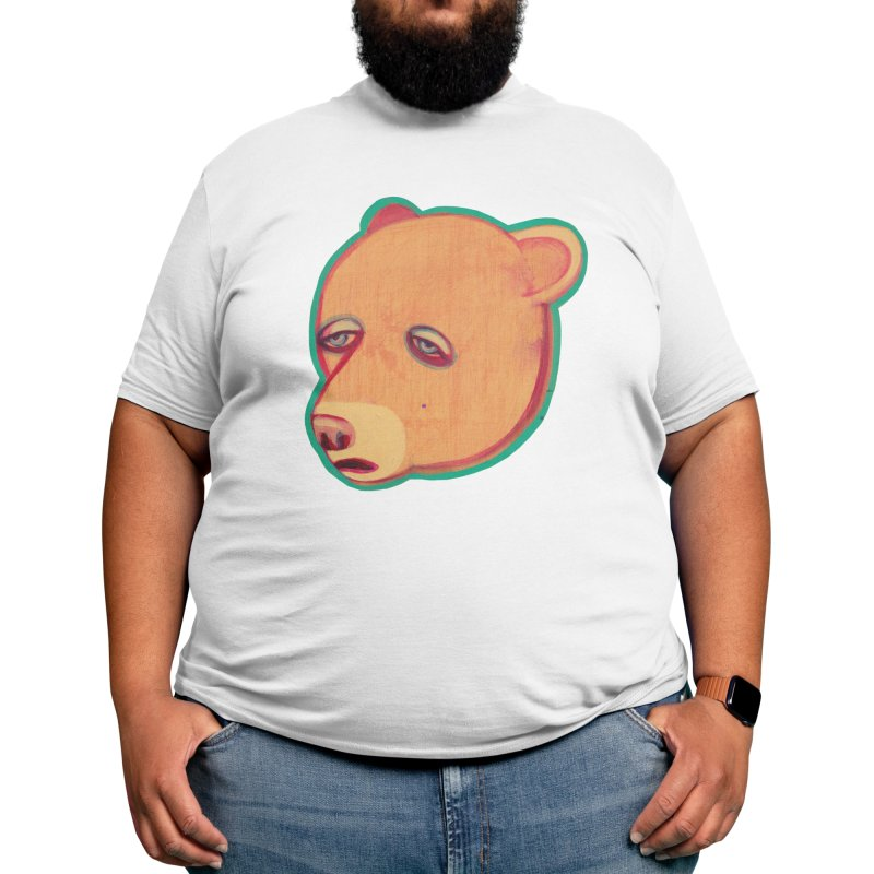Mr Sad Bear Men's T-Shirt by Mica Still / Collection of Giggles