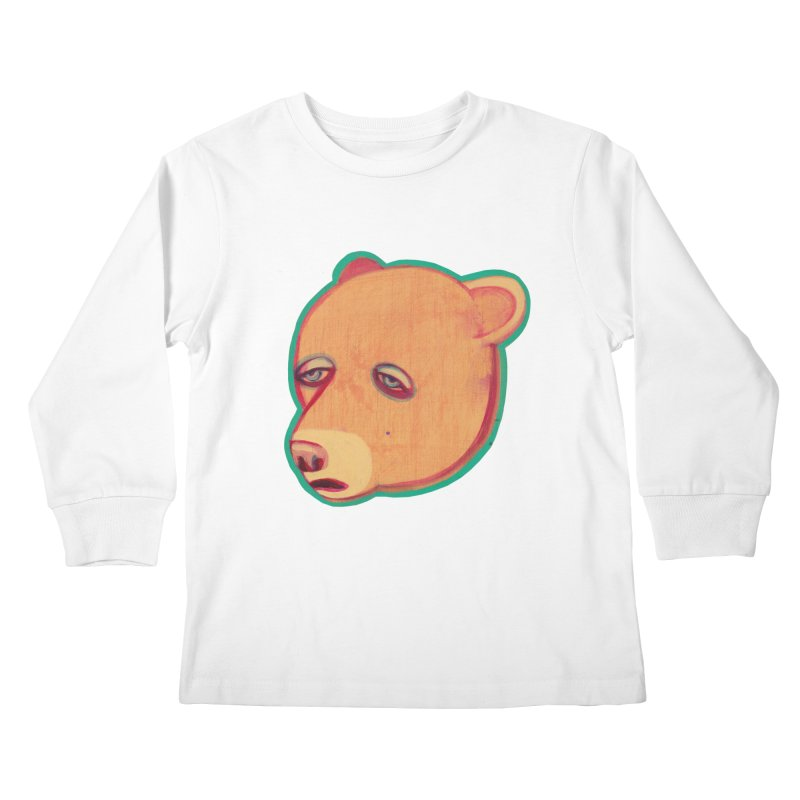 Mr Sad Bear Kids Longsleeve T-Shirt by Mica Still / Collection of Giggles