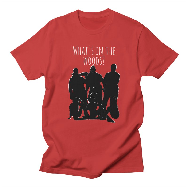 What's In The Woods? Characters Men's T-Shirt by Michael Dominguez-Beddome's Shop