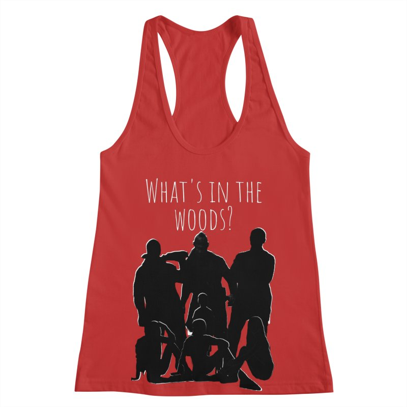 What's In The Woods? Characters Women's Racerback Tank by Michael Dominguez-Beddome's Shop