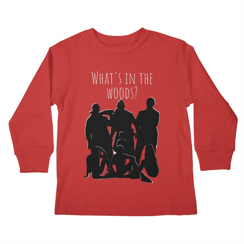 What's In The Woods? Characters Kids Longsleeve T-Shirt by Michael Dominguez-Beddome's Shop