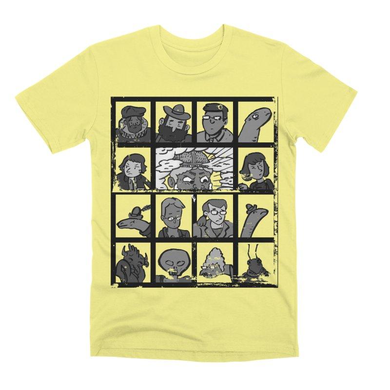 Class Photos (Black & White) Men's Premium T-Shirt by Michael Dominguez-Beddome's Shop