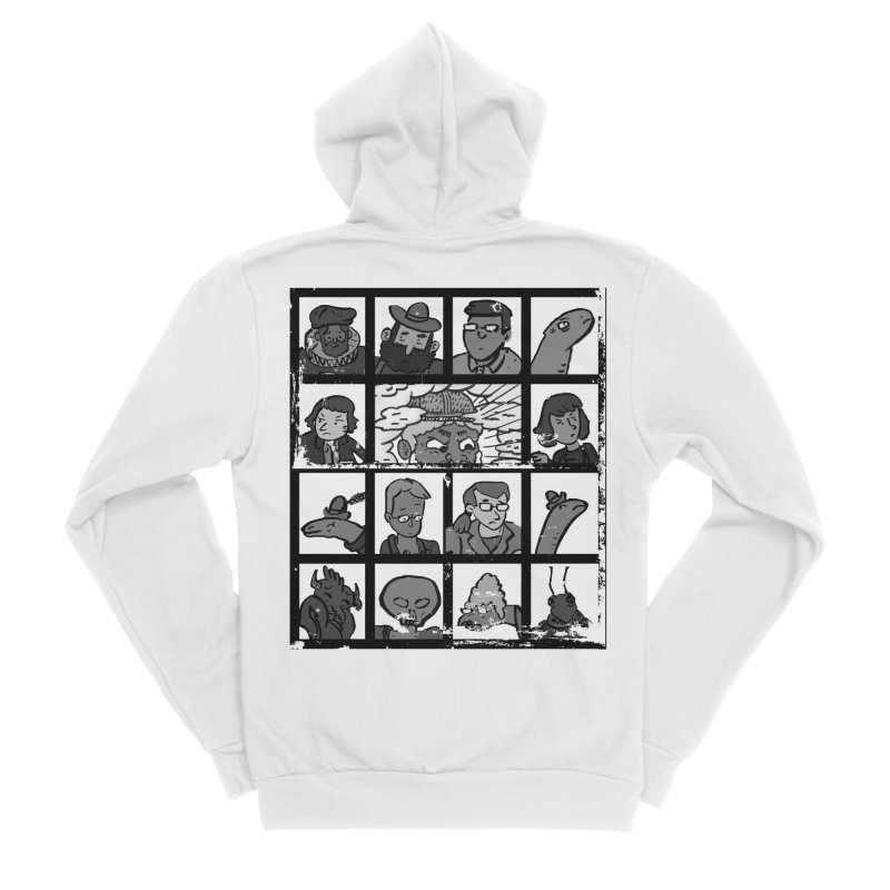 Class Photos (Black & White) Men's Sponge Fleece Zip-Up Hoody by Michael Dominguez-Beddome's Shop