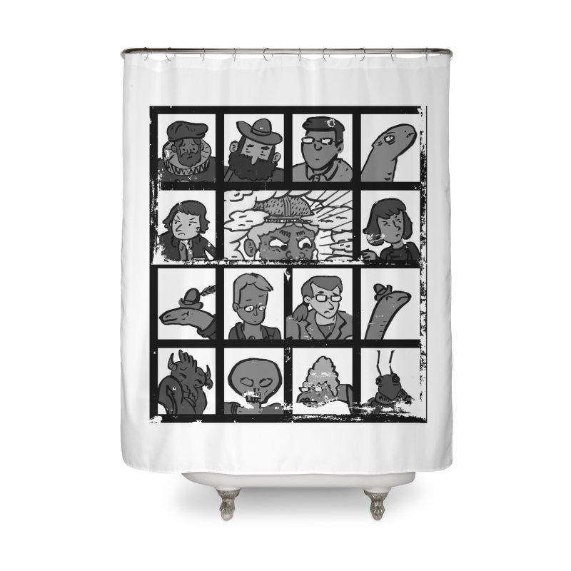 Class Photos (Black & White) Home Shower Curtain by Michael Dominguez-Beddome's Shop