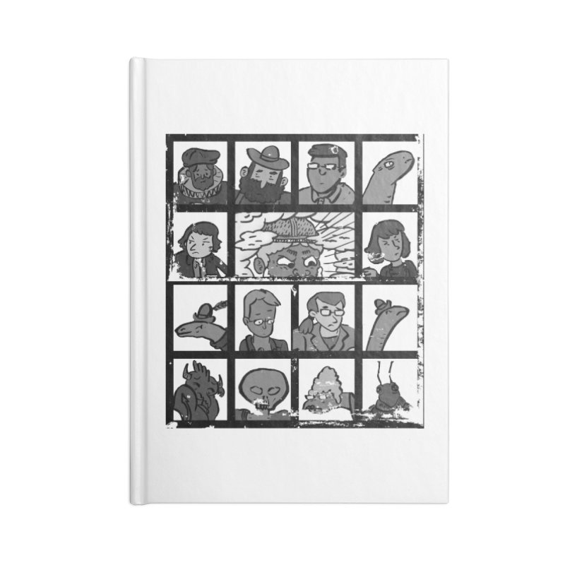 Class Photos (Black & White) Accessories Lined Journal Notebook by Michael Dominguez-Beddome's Shop