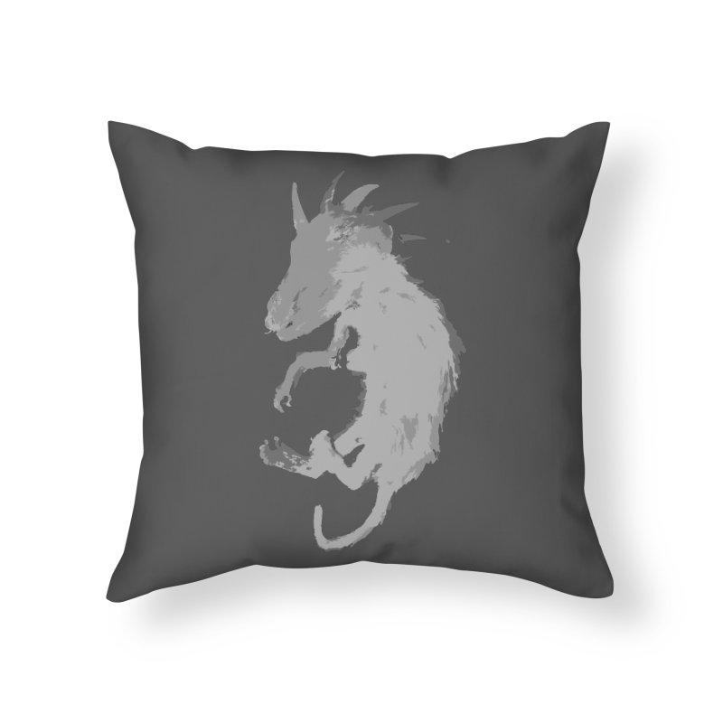 La Blancocabra Home Throw Pillow by Michael Dominguez-Beddome's Shop